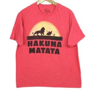 Disney Hakuna Matata Lion King T-Shirt Red XL